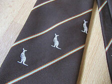KANGEROO Logo possibly CRICKET Club Tie by Polo Vogue Made in AUSTRALIA
