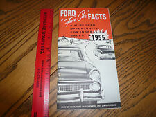 1955 Ford Facts Car Data Book - Vintage