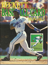 Bo Jackson On Cover Beckett Baseball Price Guide Feb, 1990-Gregg Olson-Back Cov.