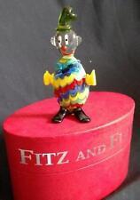 Fitz & Floyd Glass Clown Figurine  MIB Boppy Retired
