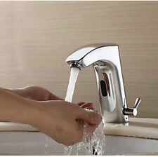 Modern Bathroom Automatic Sensor Sink Water Taps Hand Free Chrome Faucet Spout