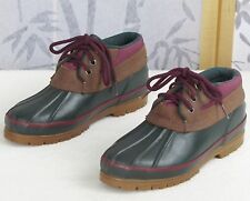 Sz 8 M-Womens Bass Green and Suede Leather Mud Duck Winter Rain Snow Boots Shoes