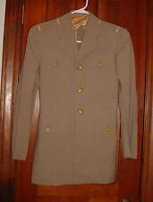 Vintage Navy Officer Khaki Uniform Coat