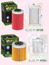 HF155 & HF651 A pair of oil filter KTM 690 Duke SMR & Enduro  2012-16