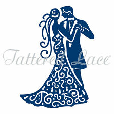 Tattered lace metal die  couple dancing wedding ,in love D169