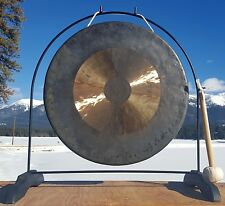 "22"" Bright Chau Gong on Super Love Gong Stand with Mallet - Our Casanova Combo"
