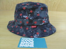 SUPREME COMME DES GARCON SHIRT CDG DIGI CAMO BUCKET CRUSHER HAT S M BOX LOGO