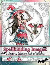 Spellbinding Images A Fantasy Witches Halloween Adult Coloring Book Design Relax