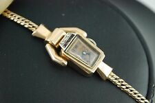Vintage Ladies Watch Lucien Picard 14 kRose Gold & Diamonds Paul Ditisheim Case