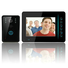 "2.4G 7"" TFT LCD Touch Wireless Video Door Phone Doorbell Intercom IR Camera US"