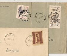 3 COVERS  POLOGNE POLAND TO SWEDEN. L596