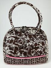 Vera Bradley Imperial Toile Handbag Cotton Bowler Bag Satchel Zip Top Pockets