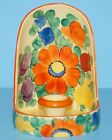 Vintage Hand Painted Art Pottery Czech Chamber Candle Holder Czechoslovakia