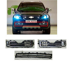 FRONT BUMPER FOG CHROME GRILL SET+ CENTER BUMPER GRILL FOR 2006-11 CHEVY CAPTIVA