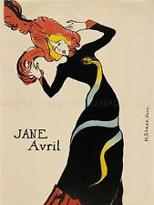 HENRI TOULOUSE LAUTREC FRENCH JANE AVRIL OLD ART PAINTING POSTER BB5650A