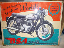 BSA ROCKET-  ANTIQUE-FINISH METAL WALL SIGN 40X30 CM BRITISH BIKER/ACE CAFE