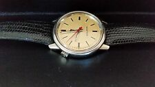BEAUTIFUL 1972 VINTAGE STAINLESS STEEL BULOVA ACCUTRON W/ BULOVA LIZARD BAND