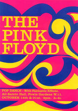 PINK FLOYD REPRO 1966 ALL SAINTS HALL A4 CONCERT POSTER SYD BARRETT NOT CD