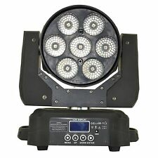 7x15w Beam Wash Zoom stage light RGBW 4in1 Led Disco Bar DJ Party Rotating Light
