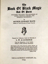 Book Black Magic Waite Secret Mystic Cryptic Occult Demons Devil Satan Grimoire