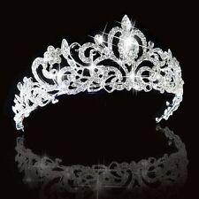 Bridal Bridesmaid Wedding Prom Party Crystal Rhinestone Crown Tiara Headband