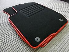 $$$ Original Lengenfelder Fußmatten für Golf 4 IV Cabrio + Rand Kunstleder ROT