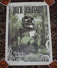 JACK JOHNSON concert gig poster print March 2008 MELBOURNE Australia