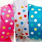 Multi Swiss Dot Grosgrain Ribbon 10mm, 16mm, 25mm