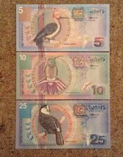 Suriname Banknote Set. 5, 10, 25 Gulden
