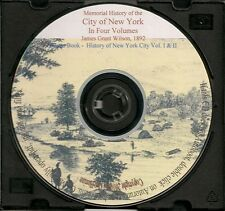 Memorial History City of New York-4 Volumes 1,500 pages