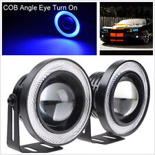 "2.5"" Angel Eye LED COB DRL Halo Ring Glass Projector Lens Car Fog Driving Lights"