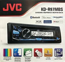 NEW JVC KD-R97MBS Marine Single DIN Bluetooth In-Dash CD/AM/FM Car Stereo