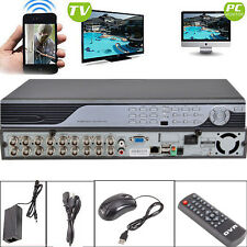 New Surveillance 16CH H.264 DVR CCTV Security CIF D1 Realtime Record Iphone View