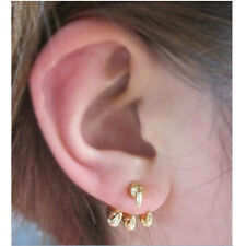 1 Pair Earring Ear Stud Punk Style Gold Claw Design Jewelry