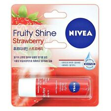 NIVEA Lip Balm Lipstick Gloss Long Lasting Moisture Fruity Shine Strawberry 4.8g