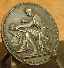 Belle médaille Allégorie du travail à l'antique par Chabaud 1946 Medal 铜牌 57 mm