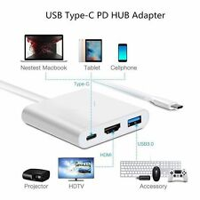 Type C to 4K HDMI USB 3.0 Charging HUB Adapter USB-C 3.1 Converter For Apple HP