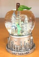 45 mm New York City Snow Globe, Big Apple Shaped Dome, Small Size