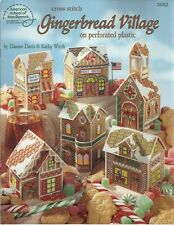 Gingerbread Village Cross Stitch on 14ct Perforated Plastic Canvas Patterns NEW