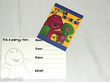 NEW  ~ BARNEY~     8-  INVITATIONS AND THANK YOU NOTES  PARTY SUPPLIES
