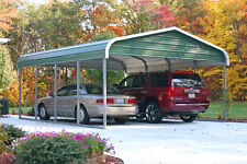 18x21 Metal Carport  (True 6' Legs with a 9' Peak)