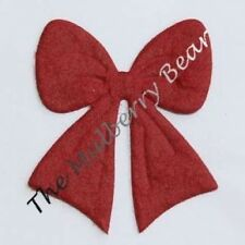 25 Bows bow Diecut Mulberry Paper Burgundy maroon wine Holidays Valentine Cards