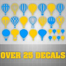 Balloon Wall Decals,Hot Air Balloon Stickers,Kids Room Decor, 25+ DECALS