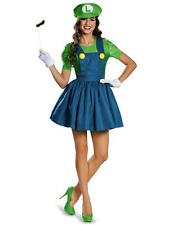 Green Womens Adult Super Mario Halloween Fancy Dress Party Costumes Outfits
