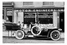 pu0016 - Early Motor Car St Sepulchre Gate , Doncaster , Yorkshire - photograph