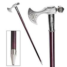 Bavarian Mountain Walking Stick Design Toscano Pewter Cane  Gentlemans Cane