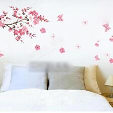 Pink Peach Blossom Flowers Tree Branch Kids Wall Sticker Art Wall Decal Decor