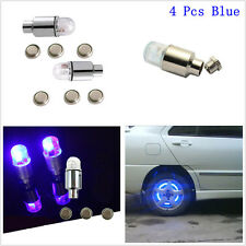 4pcs LED Tyre Tire Valve Caps Light Blub Car SUV Wheel Dust Cover Led Lamp Blue