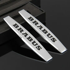 2pcs Car Metal Fender Badge Emblem Decal Sticker For BRABUS AMG A B C E S series