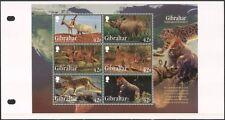 Gibraltar 2012 Rhino/Lynx/Leopard/Gorilla/Wolf/Animals/Nature  m/s Pack (s6392j)